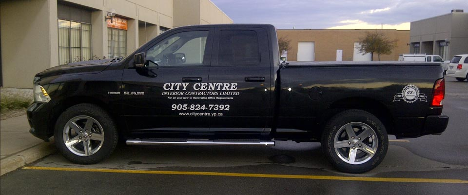 City Centre work truck